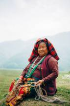 A Nepalese woman in traditional clothes, Pokhara valley, Nepal